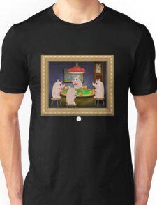 Glitch furniture wall decor pigs playing poker Unisex T-Shirt