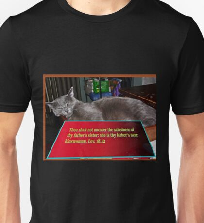 Cat with bible verse text 2 Unisex T-Shirt