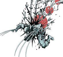 Wolverine - Red Sun by devlinart
