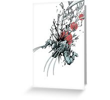 Wolverine - Red Sun Greeting Card