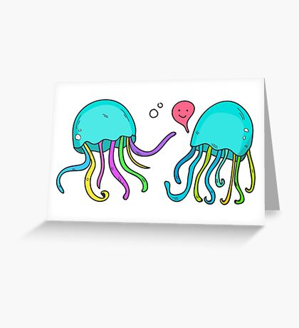 Jelly chat Greeting Card
