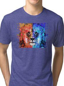Lion Art - Majesty - Sharon Cummings Tri-blend T-Shirt