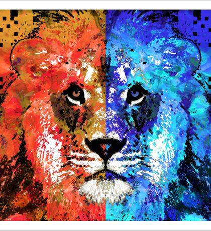 Lion Art - Majesty - Sharon Cummings Sticker