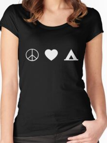 Peace Love Camping Women's Fitted Scoop T-Shirt