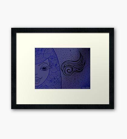 Sassy Pants Fantasy Girl Drawing Framed Print