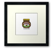 It's a love hate thing Framed Print