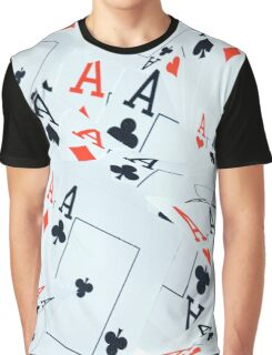 Aces In A Layered Composition Graphic T-Shirt