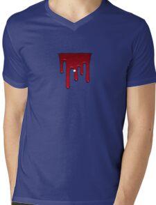 Glitch furniture wall decor red slimy Mens V-Neck T-Shirt