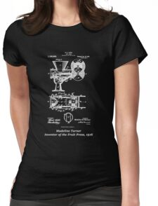 Madeline Turner, Inventor of the Fruit Press, blueprint Womens Fitted T-Shirt