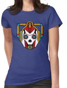 Cyberman Sugarskull Womens Fitted T-Shirt