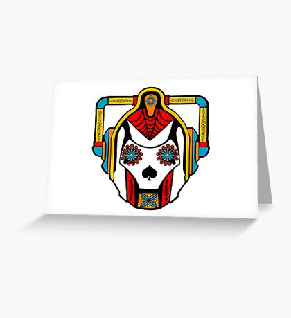 Cyberman Sugarskull Greeting Card