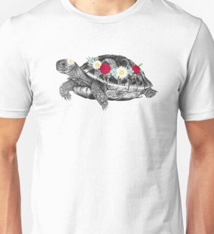 Flower Crown Tortoise Unisex T-Shirt