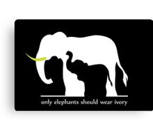 Only Elephants Should Wear Ivory Canvas Print