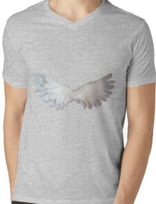 Angel wings,photo,digital,spiritual,purple,spiritual,spirit,angel,love,faith,compassion Mens V-Neck T-Shirt