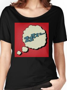 Comic Bubble in Pop Art Style with Expression Zzz Women's Relaxed Fit T-Shirt