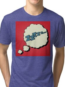Comic Bubble in Pop Art Style with Expression Zzz Tri-blend T-Shirt