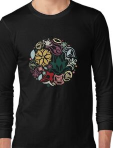 Colourful little bouquet of imaginary flowers Long Sleeve T-Shirt