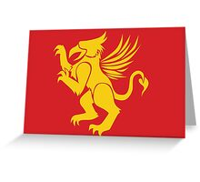 Golden Griffin Greeting Card
