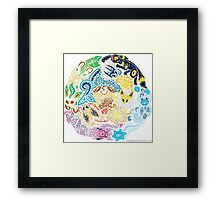 Tribalish Eeveelutions Framed Print