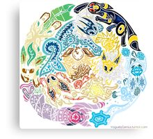 Tribalish Eeveelutions Canvas Print