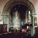 Old and new parts St Thomas ChurchMonmouth Wales 198405180050 by Fred Mitchell