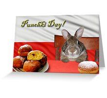 Punchki Day Bunny Rabbit Greeting Card