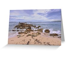 Seascape With Rocks Greeting Card