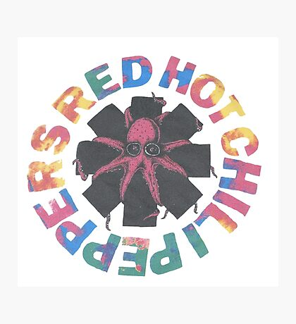 Red hot chili peppers - Octopus Photographic Print
