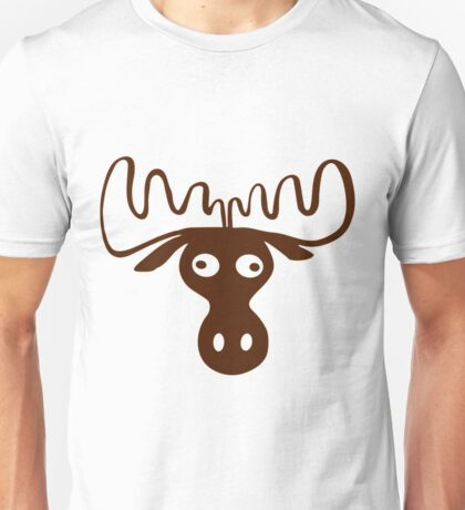 A moose head Funny shirt Unisex T-Shirt