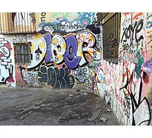 Graffiti Chaos Photographic Print