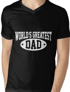 World's Greatest Dad Funny T Shirts For Dad Mens V-Neck T-Shirt