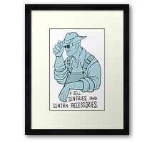 Sentry and Sentry Accessories BLU Framed Print