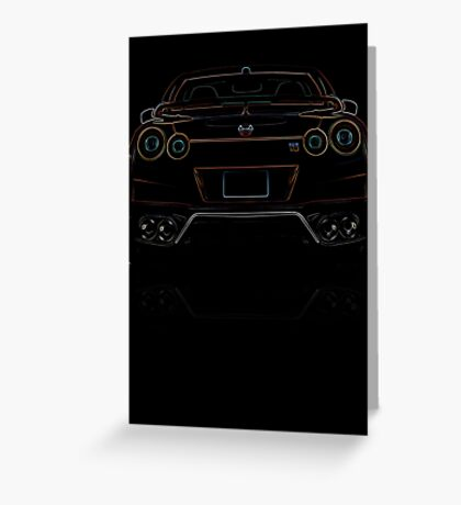 Nissan R35 GTR, Colored Greeting Card