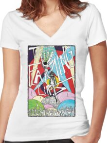 Wayne and the Laser Hand Women's Fitted V-Neck T-Shirt