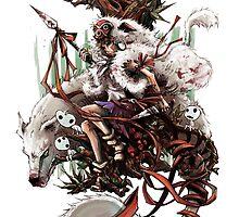 Princess Mononoke by devlinart