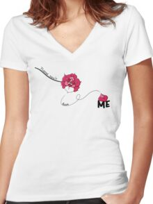 Please Don't Leave Me Women's Fitted V-Neck T-Shirt