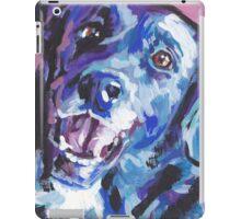 Borador border collie lab mix Bright colorful pop dog art iPad Case/Skin