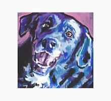 Borador border collie lab mix Bright colorful pop dog art Unisex T-Shirt