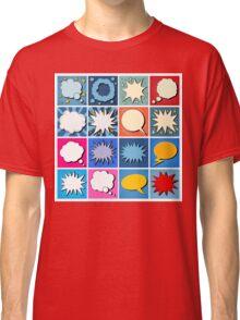 Big Set of Comics Bubbles in Pop Art Style Classic T-Shirt