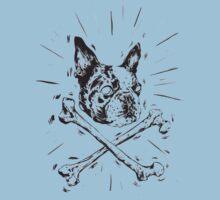 Pirate Boston Terrier Flag Kids Clothes