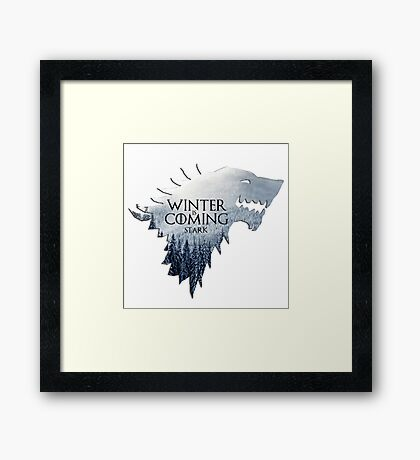 Game Of Thrones - House Stark Framed Print
