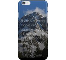 mountain quote design iPhone Case/Skin