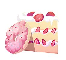 Donuts and Cake Photographic Print