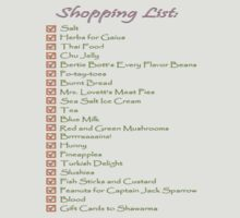 Geek Shopping List by Kilt2013