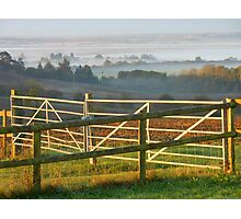 Don't Fence Me In! Althorne Sunrise Photographic Print