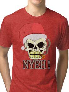 Santa Skull Tri-blend T-Shirt