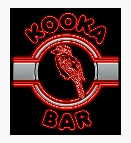 Kooka Bar (Red) Photographic Print