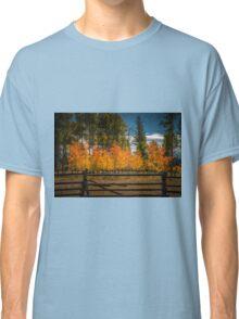 Fall Quakies Behind the Split Rail Classic T-Shirt