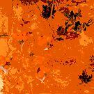 Orange Abstract by Fara