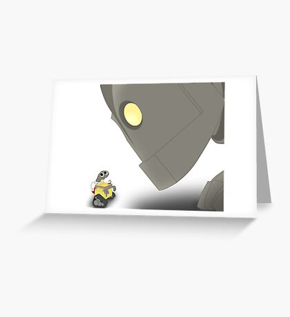 Iron Giant Meets WALL-E Greeting Card
